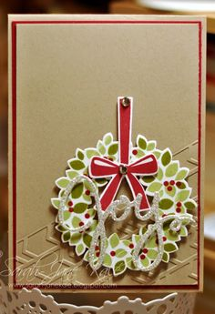 Sunday, September 21, 2014 Janeybell: Wondrous Wreath, Arrows Textured Embossing Folder
