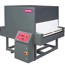 STA Shrink Tunnel, by Damark Shrink Packaging. For higher speed applications where appearance is a main consideration.