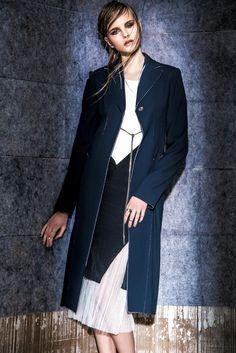 Boss' viscose coat; Elizabeth and James dress; Nirco Castillo dress. [Photo by Eli Schmidt]