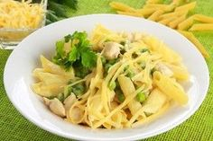 Makaron z kurczakiem i śmietanowym sosem Penne, Cantaloupe, Macaroni And Cheese, Cabbage, Spaghetti, Meat, Chicken, Fruit, Vegetables