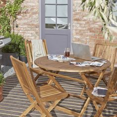 Victoria Wooden 4 Seater Dining Set | Departments | DIY at B&Q £145