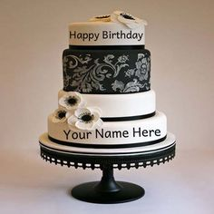 Write Name On Flower Birthday Cake Pictures. #happybirthday #birthdaycake