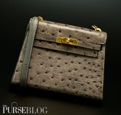 Tell the story of this Vintage Hermes Ostrich Mini Kelly