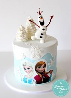 Frozen Cake by The Family Cakes # frozen birthday cake Bolo Frozen, Tarta Frozen Disney, Elsa Frozen Cake, Frozen Fondant Cake, Frozen Theme Cake, Frozen Themed Birthday Party, Elsa Birthday Cake, Birthday Parties, Funny Wedding Cake Toppers