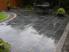 Blue Black Slate Paving Slabs   Natural Patio Stone  New Grey Sawn Garden  Flags | Slate Paving Slabs, Paving Slabs And Slate