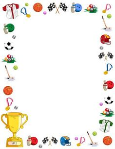 Free sports border templates including printable border paper and clip art versions. Vector images are also available.