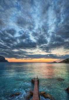 #Sunset at #Ibiza; just after the sun dipped into the #Mediterranean. from #treyratcliff at http://www.StuckInCustoms.com - all images Creative Commons Noncommercial