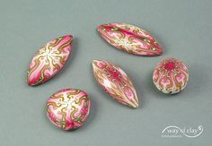 kaleidoscope cane - beads by way of clay, via Flickr