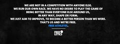 We're free athletes. #freeletics #motivation #we http://frltcs.com/freeletics-motivation