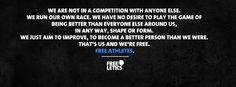 We're free athletes. #freeletics #motivation #we http://frltcs.com/freeletics-motivation