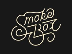 Smokebox BBQ designed by Chris Benotto. Inspiration Logo Design, Typography Inspiration, Types Of Lettering, Lettering Design, Script Logo, Handwritten Typography, Script Type, Typographie Logo, Beautiful Lettering