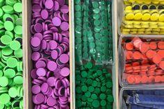 in verschiedenen Farben und Grössen