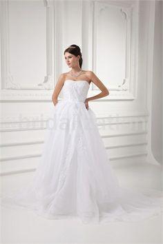 Beautiful Zipper-back Petite Satin A-Line Sleeveless Wedding Dress 2014