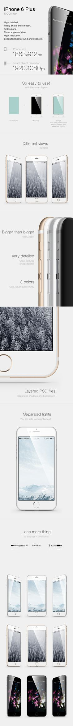 #iPhone_6_Plus #Mock-up on #Behance DOWNLOAD https://www.behance.net/gallery/19932015/iPhone-6-Plus-Mock-up?share=1
