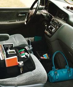 Tips for corralling car clutter.