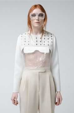 Feminine Minimalist Fashion - The Alberto Zambelli FW14 Collection is Slightly Quirky and Futuristic (GALLERY)