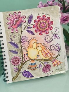 O amor!!! 💖💖💖 Colorindo livro Loris Art Garden. #lorisartgarden #lorigardnerwoods