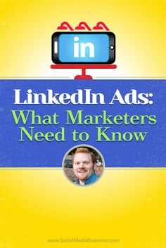 What you need to know about #LinkedIn ads | Podcast with @Mike_Stelzner and @wilcoxaj  for @SMExaminer | #SMM | AJ Wilcox talks with Michael Stelzner about LinkedIn ads.