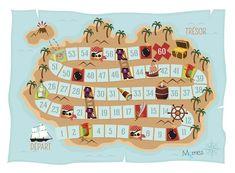 Jeu des p'tits pirates à imprimer - Momes.net Pirate Activities, Pirate Games, Kindergarten Math Activities, Pirate Theme, Pirate Party, Ocean Themes, High Five, Peter Pan, Nautical Theme