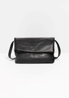 & Other Stories   Fold-Over Leather Crossbody