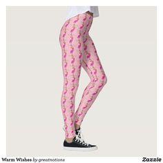 Warm Wishes Leggings Workout Leggings, Women's Leggings, Christmas Leggings, Flamingo, Warm, Pattern, Pants, Shopping, Design