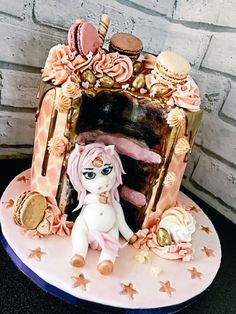 Fat unicorn drip cake by Ashlee Samuels. the fact this is real is insane! Pretty Cakes, Cute Cakes, Beautiful Cakes, Amazing Cakes, My Birthday Cake, Unicorn Birthday Parties, Unicorn Party, Fat Unicorn, Unicorn Foods