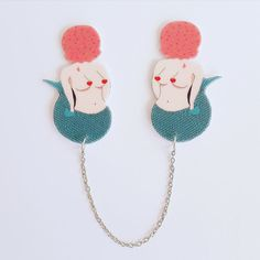 Hey, I found this really awesome Etsy listing at https://www.etsy.com/listing/472623095/mermaid-collar-clips-shrink-plastic