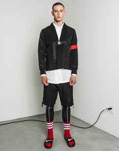 Pyer Moss Spring 2016 Menswear Fashion Show: Complete Collection Mens Fashion Week, High Fashion, Fashion Show, Fashion Design, Women's Fashion, Men Street, Street Wear, Mens Tights, Casual Wear For Men