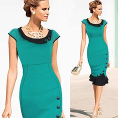 Mermaid Midi Pencil Dress