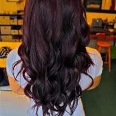 Dark Hair Color With Purple Tint