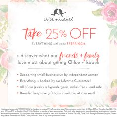 Discover why c+i makes the best gift — plus shop 25% OFF during Friends + Family! Sale ends at midnight tonight! Hurry here to save!