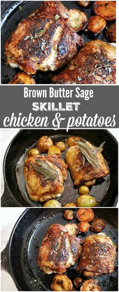 This brown butter sage skillet chicken recipe is the perfect one pan meal. Cast iron skillets have been used for centuries, come see why!