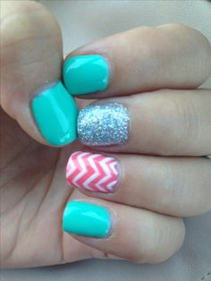 Summer fun with new nail art Cute nails I love nail because you can do cool nail art Visit my site http://youtu.be/4yfEGZnJ96M #nails