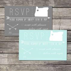 Arrow Wedding Invitation RSVP - DIY Printable via Etsy IN LOVE WITH THIS!