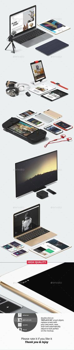 Buy Mockup Scene Generator by AZDpixels on GraphicRiver. With apple responsive mockup generator you can create your own high quality apple devices scene, save your time and m. Macbook Mockup, Display Mockup, Mockup Generator, Apple Tv, Apple Watch, Ipad Air, Psd Templates, Scene, Graphic Design
