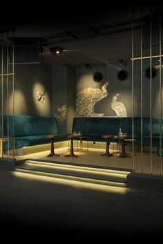 The Peacock room in Amsterdam's ABE Club & Lounge. Designed by Peter Korver and executed by him on site.