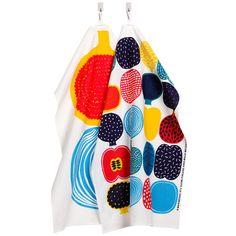 Kompotti, tea towels by Marimekko