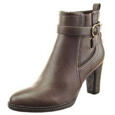 Sopily - Scarpe da Moda Stivaletti - Scarponcini chelsea boots alla  caviglia donna multi-briglia