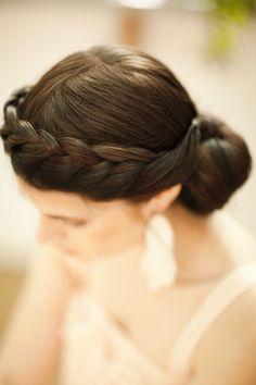 braided updo for wedding hair