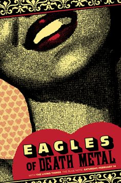 2 color screenprint for Eagles of Death Metal's show at The Blue Note in Columbia, MO