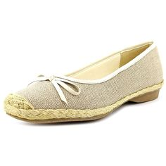 Beacon Parade Women N/S Round Toe Canvas Tan Flats >>> Be sure to check out this awesome product.