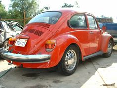 VW 74 Beetle. My first car Drove it up and down the California Coast. Miss it! ♥