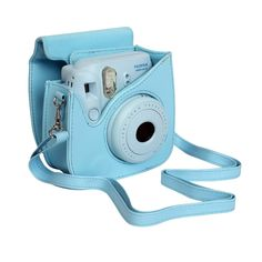 SundayZaZa Essential Bundle Retro Camera PU Leather Carrying Case For Fujifilm Fuji instax mini 8 With Shoulder Strap Blue + 64 Pockets Polaroid Mini Films Book Photo Album + Close-Up Self Timer Lens Fuji Instax Mini 8, Instax Mini 8 Camera, Polaroid Instax, Fujifilm Instax Mini 8, Cute Camera, Best Camera, Polaroid Camera Pictures, Polaroid Cameras, Unique Backpacks