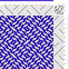 Hand Weaving Draft: Figure 1071, A Handbook of Weaves by G. H. Oelsner, 8S, 8T  Max float 3 - Handweaving.net Hand Weaving and Draft Archive