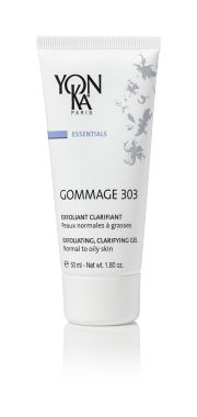 GOMMAGE 303 (EXFOLIATE) Illuminate your skin with this ultra-gentle, 4-in-1 gel peel that has exfoliating, clarifying, hydrating, and balancing effects. Enhanced by carob and brown seaweed extracts and a blend of citrus essential oils, this botanical feast is a natural astringent that tightens pores and firms the skin. It is an essential weekly treatment to give normal or oily skin a healthy glow. #skincare #beauty