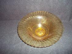 Yellow Glass Serving Bowl