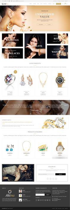 Aktina - Multi-Concept HTML Template #jewelry #shop #website