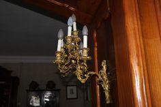 Lampara tipo candelabro de pared antigua