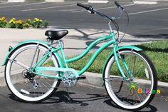 Micargi Pantera Shimano Women's Beach Cruiser Bicycle Bike, Steel Frame (Mint Green) Beach Cruiser Bikes, Cruiser Bicycle, 26 Beach, Car Bike Rack, Mountain Bikes For Sale, Bike Suit, Online Bike, Full Suspension Mountain Bike, Cycling Accessories