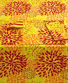 Fiesta Table Linens, Calypso Floral Sunflower Collection   Table Linens    Dining U0026 Entertaining